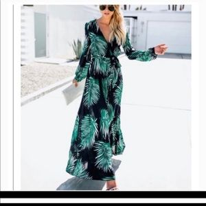Palm print maxi by Aakaa from Vici